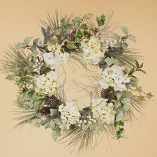 Hydrangea and Berry Pine Wreath
