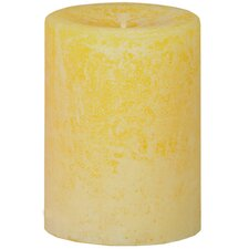 Weathered Lemongrass Pillar Candle