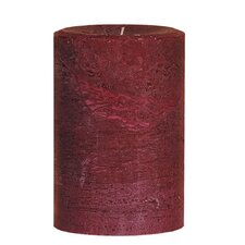 Weathered Cranberry Pillar Candle