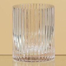 Ribbed Glass Cylinder Vase