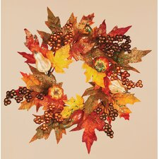 Maple Leaf Pumpkin Berry Candle Ring