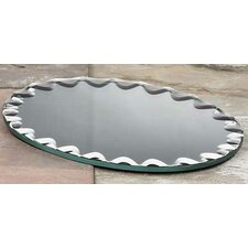 Oval Scalloped Edge Mirror