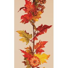 Maple Leaf Pumpkin Berry Garland