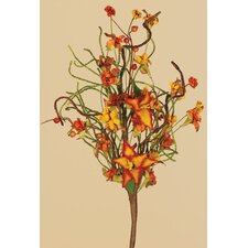 Fall Tiger Lily Tendril Ropes Spray