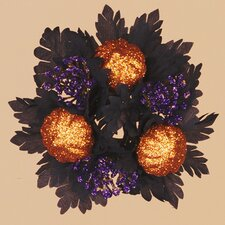 Halloween Glitter Pumpkins Maple Candle Ring