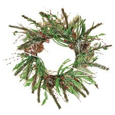 Berry Ice Pine Cone Wreath