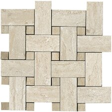 "<strong>Samson Tile</strong> Travertini 12"" x 12"" Matte Mosaic Weave Floor and Wall Tile in Beige"
