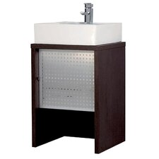 Wenge Washstand with Aluminum Door