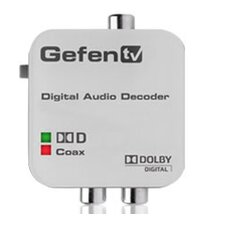 Converts Dolby Digital Audio to Stereo Analog Audio
