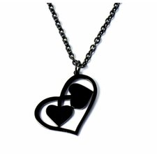 Stainless Steel Two Hearts Necklace