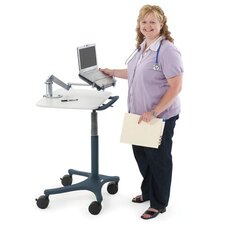 Zido Mobile Adjustable Height EMR Cart with Handle