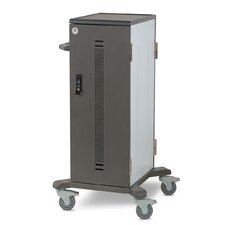 32-Compartment Anthro Charging Carts Yes Cart for Tablets with Wired Sync