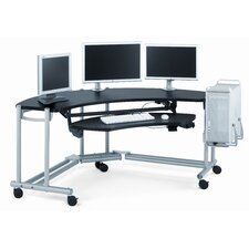 "Anthro Ergonomic Fit Console Wrap Around Studio 76"" W x 45.25"" D Computer Table"