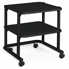"24"" Office Equipment Utility Cart in Black"