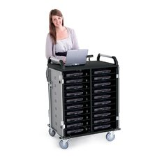 20-Compartment Advanced Laptop Charging Cart