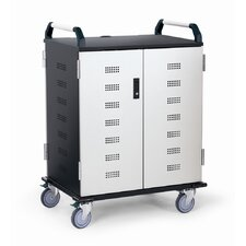 18-Compartment Deluxe Laptop Charging Cart