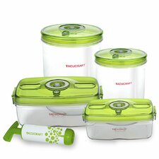 <strong>Vacucraft</strong> Versatile Vacuum 5-Piece Food Container Set