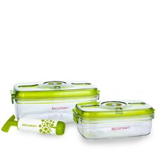 <strong>Vacucraft</strong> 3 Piece Vacuum Food Container Set