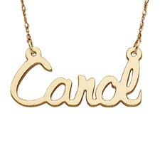 10K Gold Script Necklace