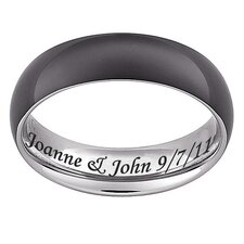 Titanium Engraved Band