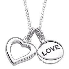 "Sterling Silver ""Love"" Heart Pendant"