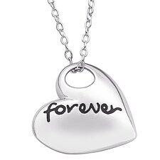 """Sterling Silver """"Forever"""" Heart Pendant"""