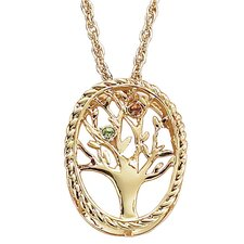 Family Tree Birthstone Necklace - 2 stone