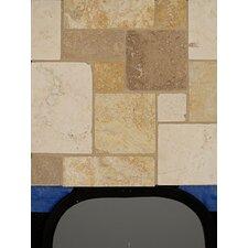 Random Sized Stone Mosaic Blend Mini Versailles Pattern