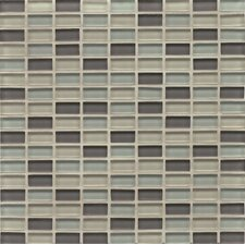 "1-3/16"" x 5/8"" Mini Brick Blend Montauk Gloss Hamptons Glass"