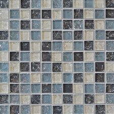 "11.5"" x 11.5"" Mosaic Gloss Tile in gray"