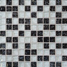 "11.5"" x 11.5"" Mosaic Gloss Tile in Black"