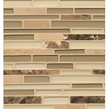 <strong>Bedrosians</strong> Stone and Glass Mosaic Random Interlocking Blends Tile