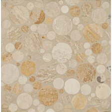 "12"" x 12"" Stone Mosaic Blend Circle Mesh Tumbled"
