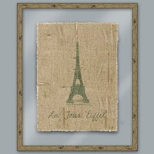 <strong>Epic Art</strong> Green Eiffel Wall Art