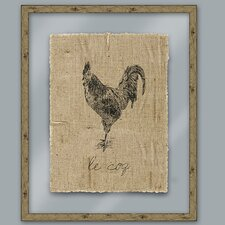 <strong>Epic Art</strong> Black Rooster Wall Art