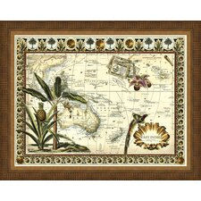Tropical Map of the East Indies Framed Graphic Art