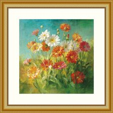 Painted Daisies Framed Painting Print