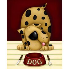 Hungry Dog Graphic Art on Canvas