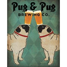 'Pug And Pug Brewing Co' by Ryan Graphic Art on Canvas