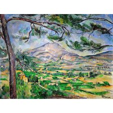 'Mt. Saint Victory with Large Pine' by Cezanne Painting Print on Canvas