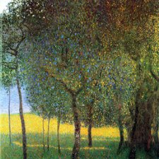 'Fruit Trees' by Gustav Klimt Painting Print on Canvas