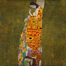 'Hope II' by Gustav Klimt Painting Print on Canvas