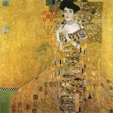 'Portrait of Adele' by Gustav Klimt Painting Print on Canvas