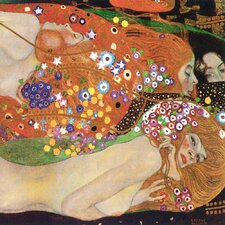 'Water Serpents II' by Gustav Klimt Painting Print on Canvas