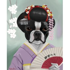 'Geisha' by Brian Rubenacker Graphic Art on Canvas