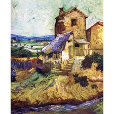 'Landscape Near Arles' by Gauguin Painting Print on Canvas