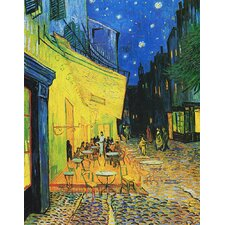 'Café Terrace at Night' by Vincent Van Gogh Painting Print on Canvas