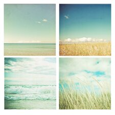 'Beach Squares' by Joy St.Claire 4 Piece Photographic Print on Canvas Set