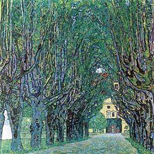 'Avenue in Schloss Kammer Park' by Gustav Klimt Painting Print on Canvas