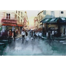'The Crowd' by Nicolas Jolly Painting Print on Canvas
